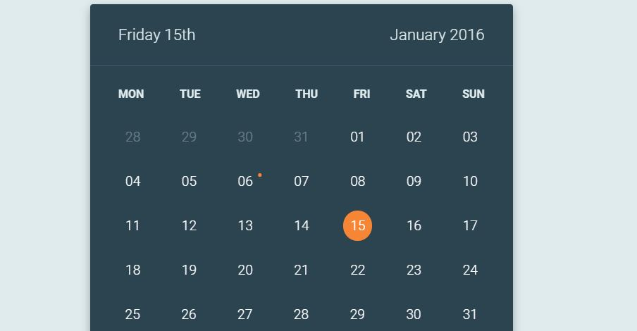 Calendar Flip Animation