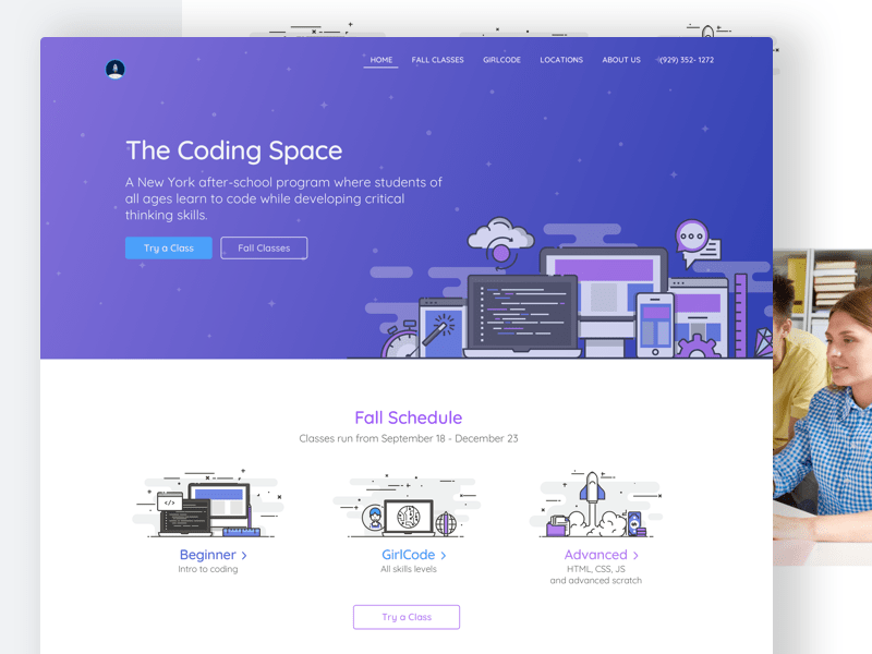 Coding Space Landing Page