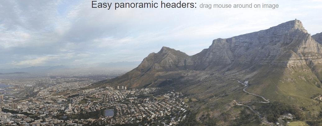 Easy Panoramic Headers