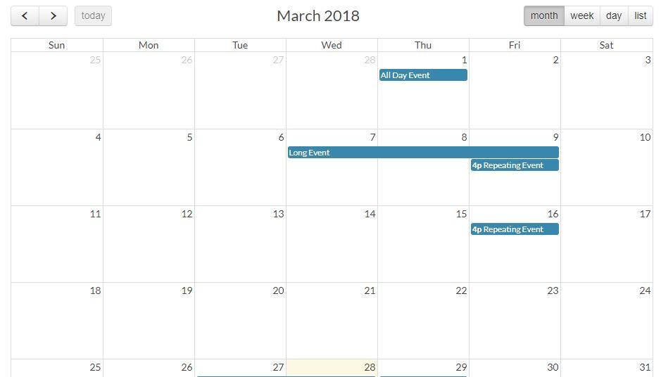 FullCalendar - A JavaScript Event Calendar
