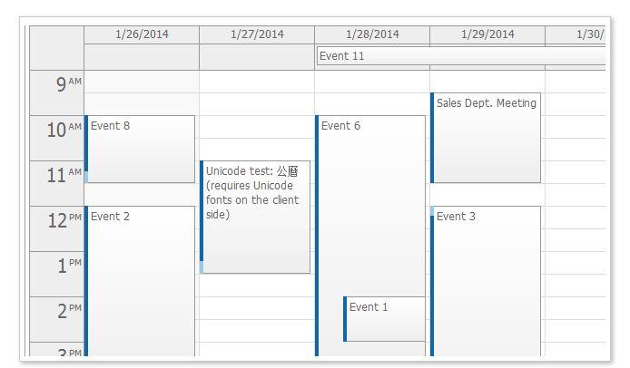 JavaScript Event Calendar