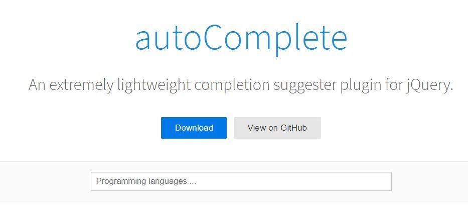 Lightweight autoComplete