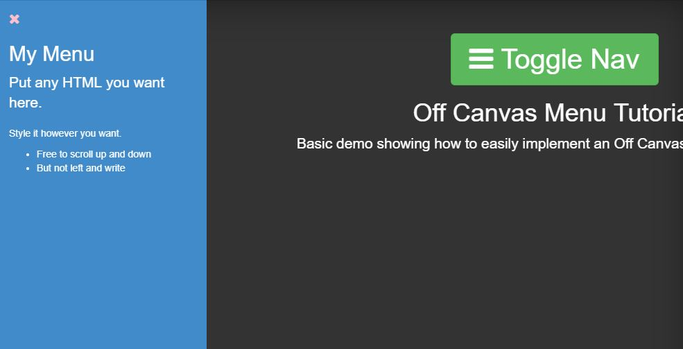 Off Canvas Menu with CSS3 Transitions and Translates