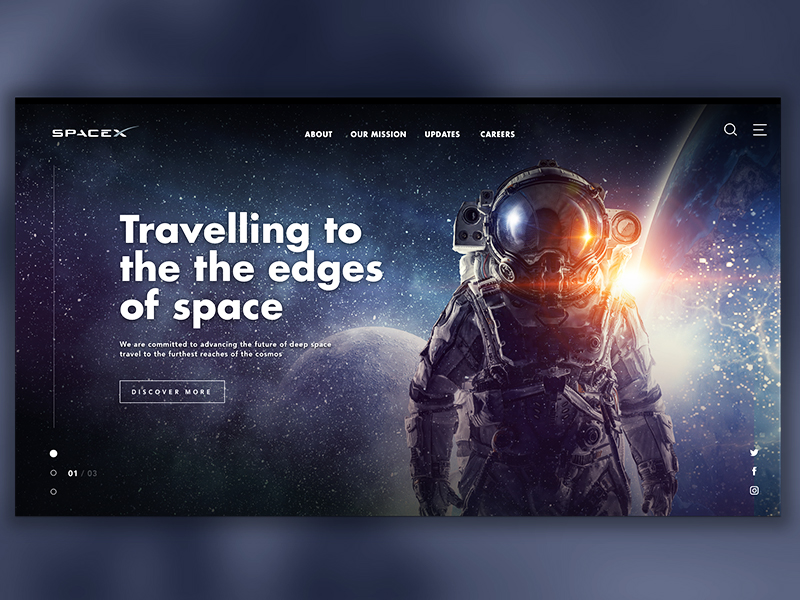 SpaceX Website Concept