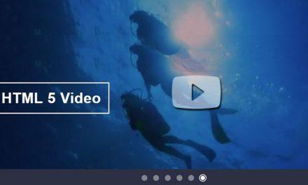 6 Video Slider For Bootstrap