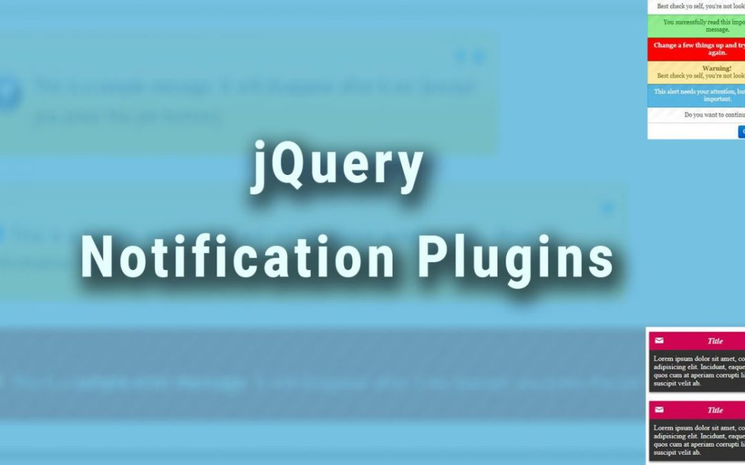 jQuery Notification Plugins