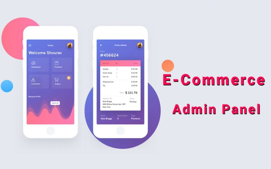E-Commerce Admin Panel Dashboards UI Design