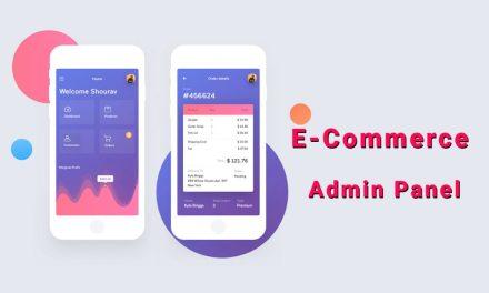 E-Commerce Admin Panel Dashboards UI Design