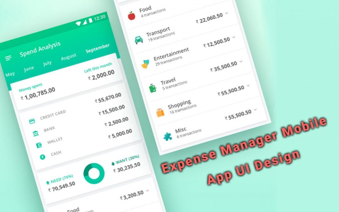 Expense Manager Mobile App UI Design
