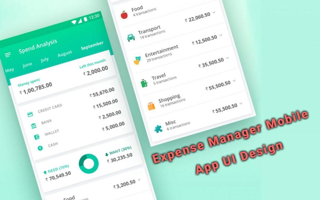 30 Interesting Expense Manager Mobile App UI Design