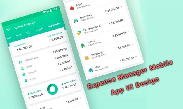 30 Interesting Expense Manager Mobile App UI Design