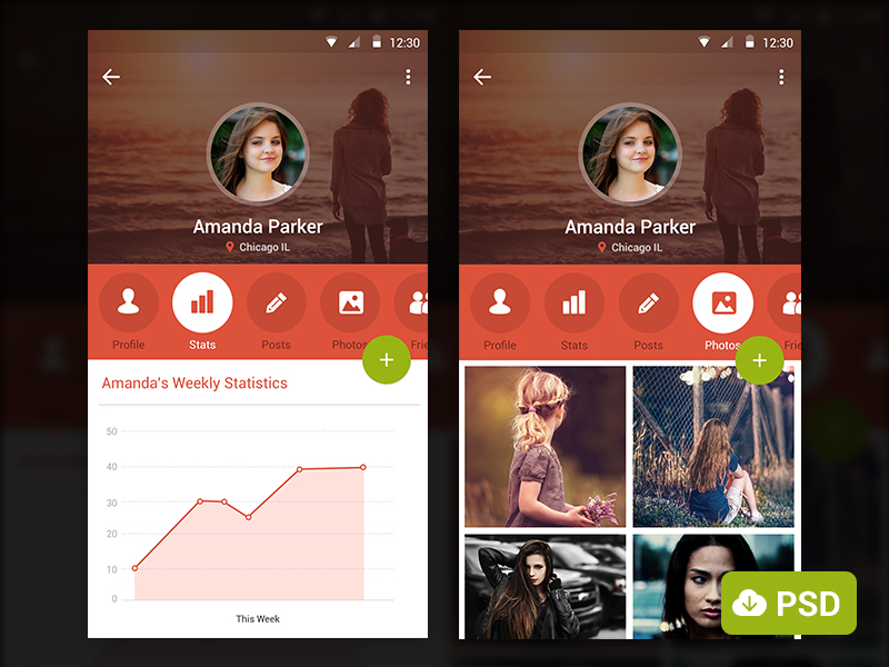 Freebies - Mobile App Screenshots with Free PSD