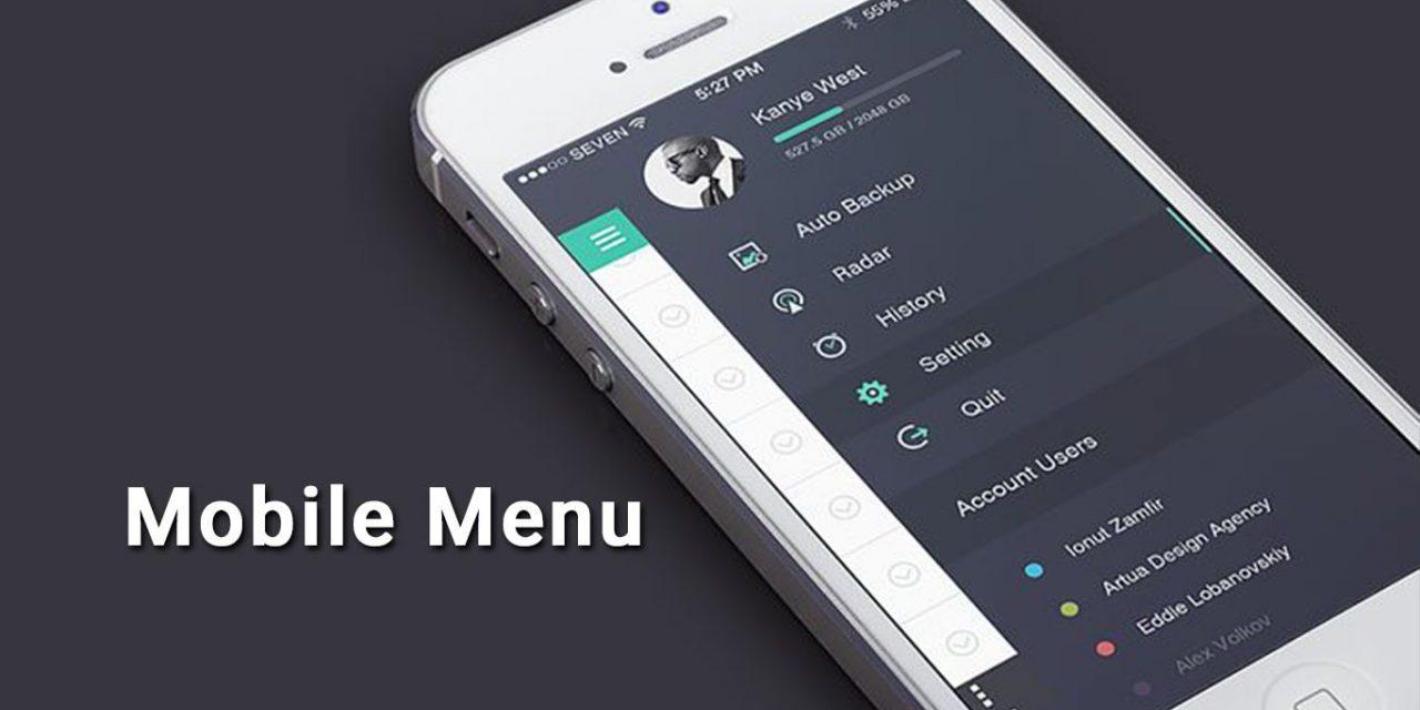 25+ Mobile Navigation Menu UI Design Inspiration