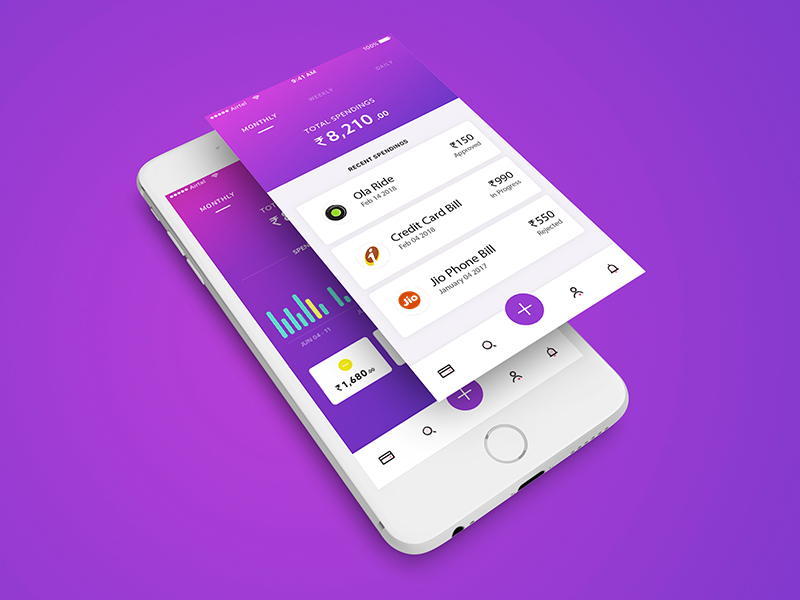Money Management Mobile UI UX Design