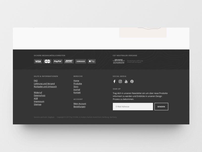 Online Shop Footer Design