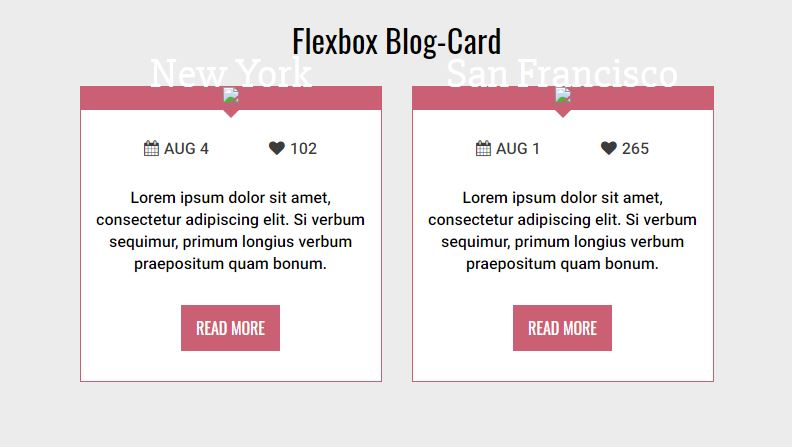 Flexbox Blog-Card