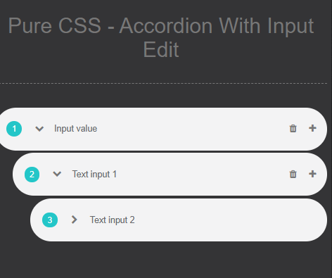 Pure CSS- Accordin With Input Edit