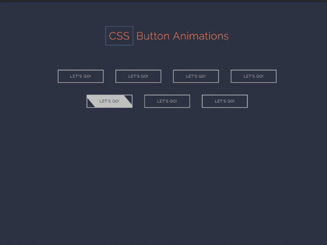 CSS Button Animation