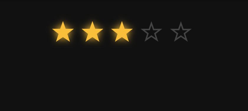 CSS Unicode Star Rating
