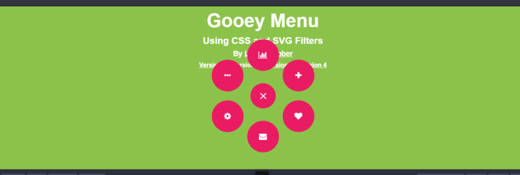Circular toggle css menu examples