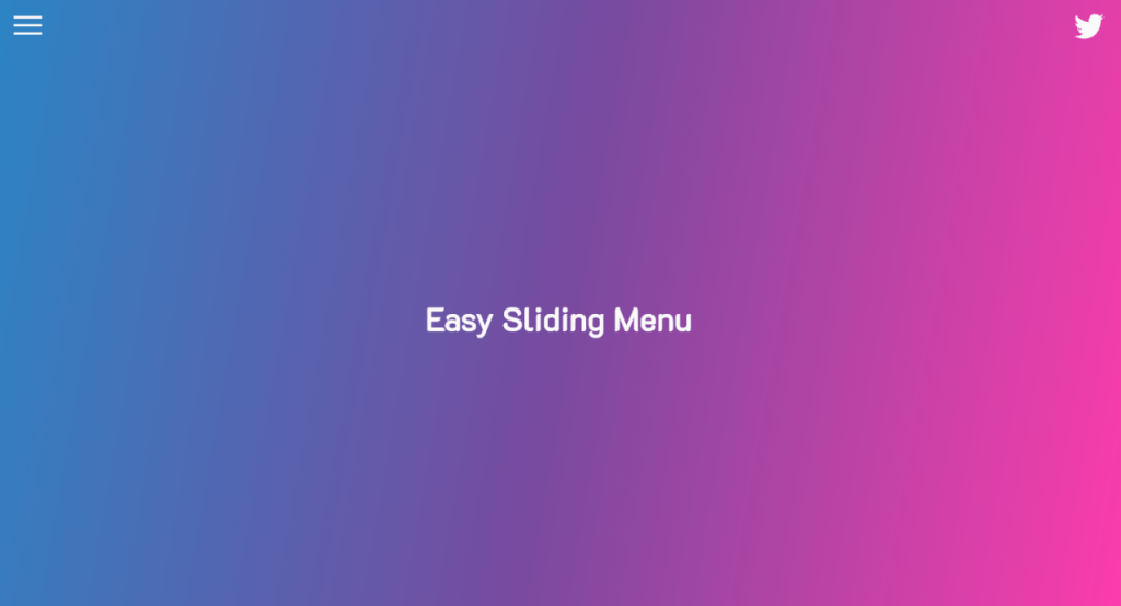 Easy Sliding Menu w/ Animated Button