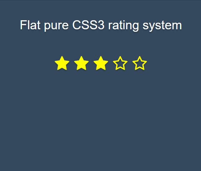 Flat pure CSS3