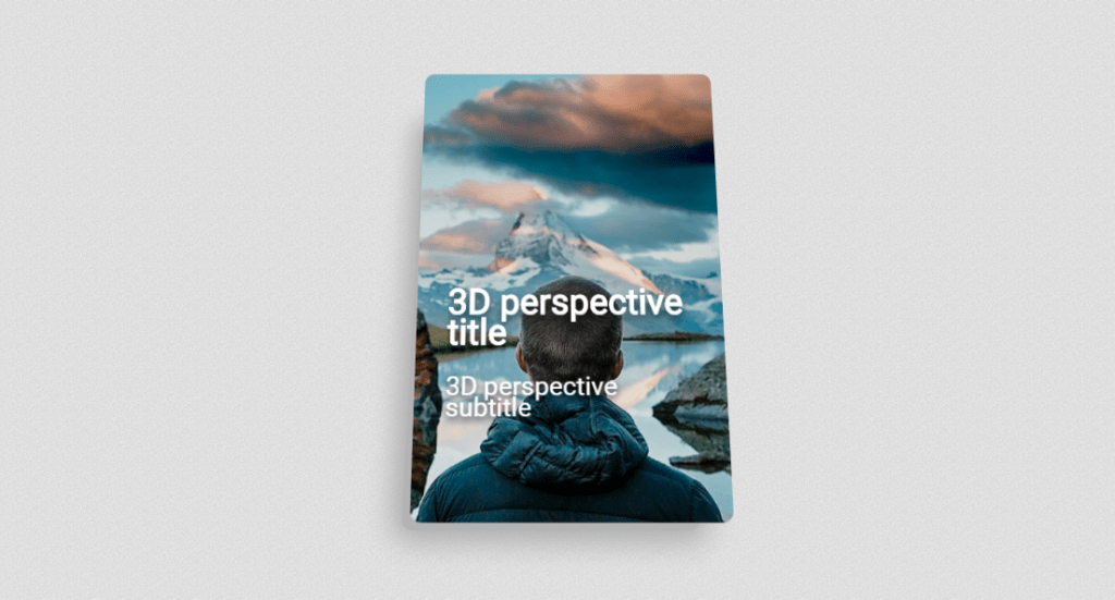 3D perspective card