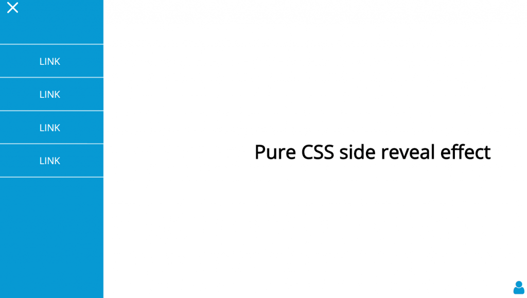 Pure CSS side reveal effect
