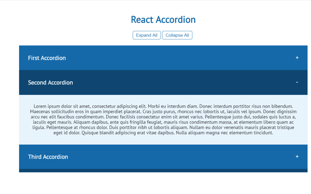 React Accordion Collapse Components