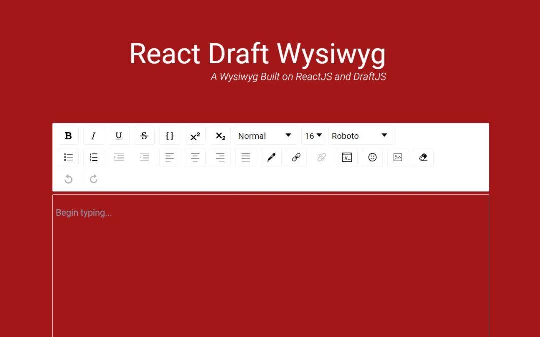 React Wysiwyg Rich Text Editor
