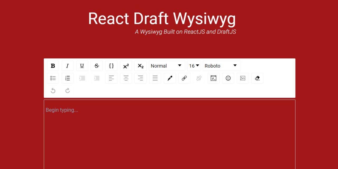 20+ React Wysiwyg Rich Text Editor