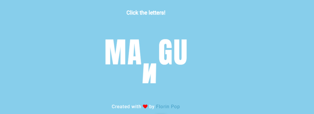 Letter Animation