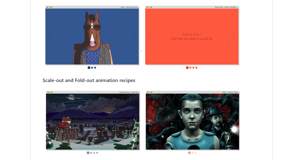 Best animated carousel examples