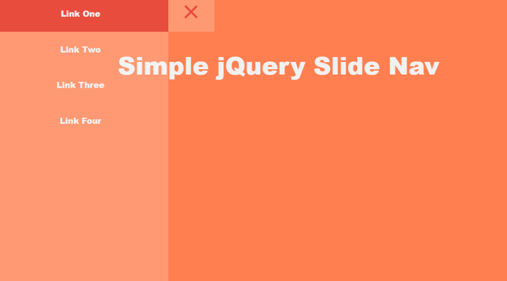 Simple jQuery Slide Menu