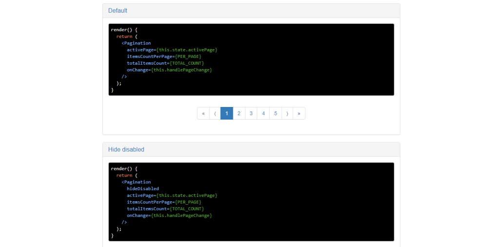 Source code for react js library