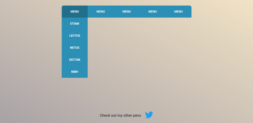 Cool Dropdown Menu Effects Pure CSS