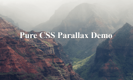 10+ Pure CSS Parallax Scrolling Effect