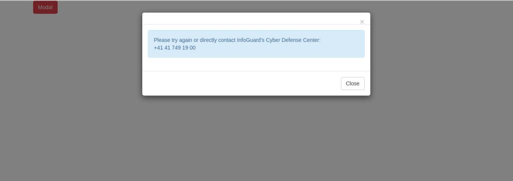 bootstrap alert dialog