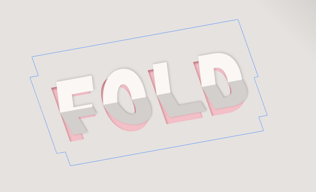 CSS only paper fold text effect