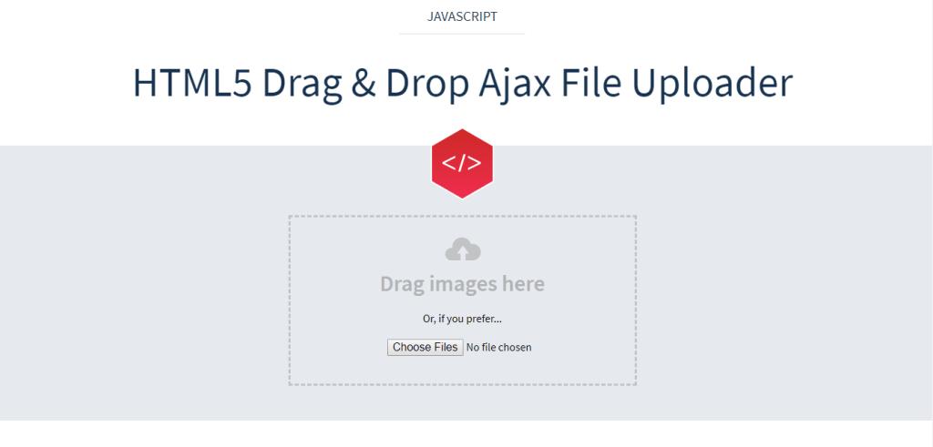 HTML5 Drag & Drop Ajax File Uploader