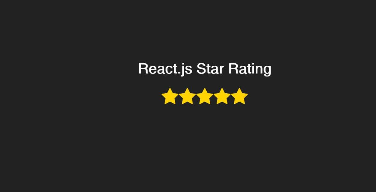 React Star Rating Components Library