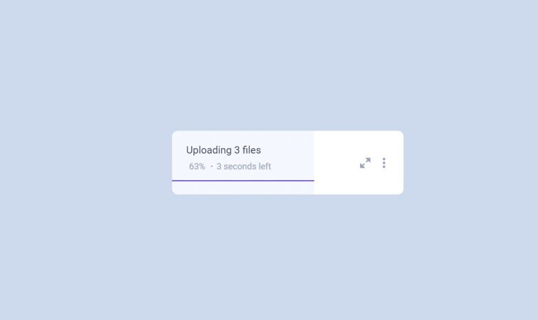 Animated Upload Progress Bar