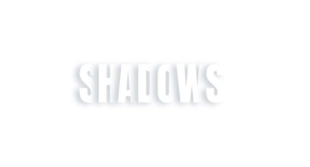Fancy Text Shadow with HTML and CSS