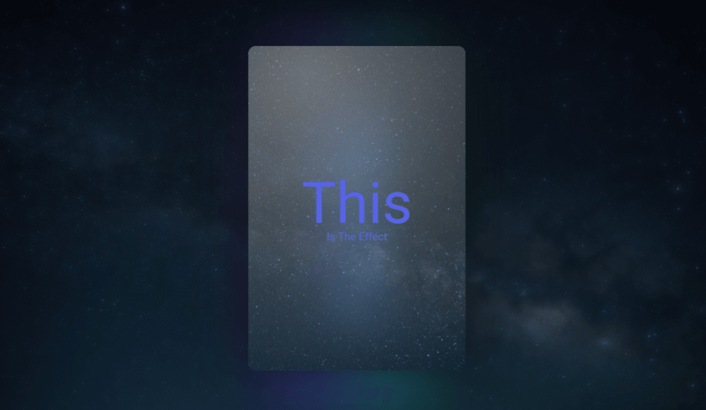 Floating Card With Glowing Backlight CSS Border Glow
