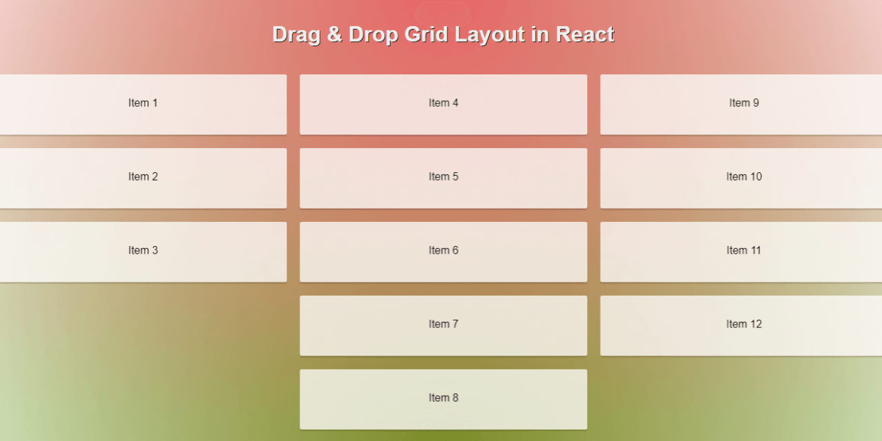 React Drag and Drop Components for Web and Mobile Apps