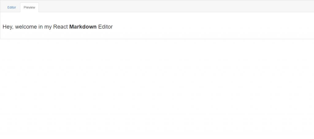 react markdown text editor