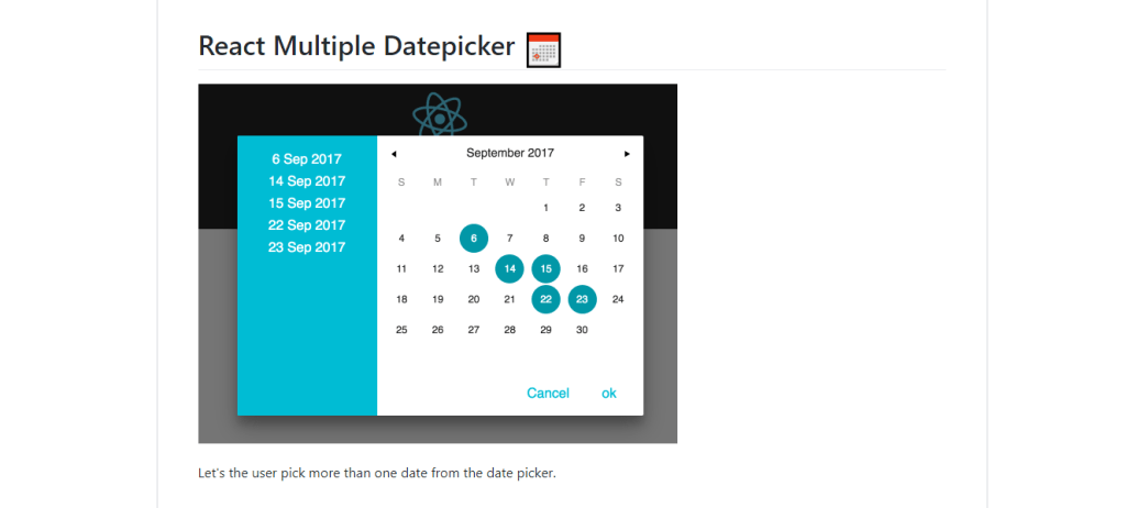 Multiple Datepicker