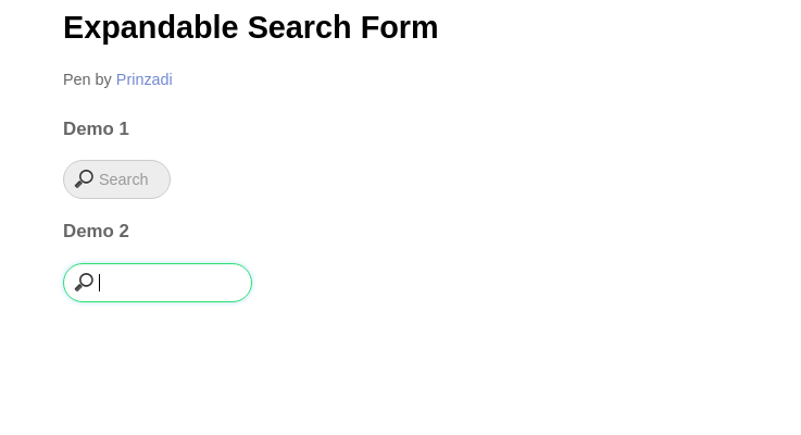 Expandable Search Form with CSS3