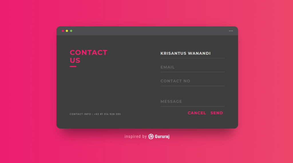 UI Challenge Contact Us Forms