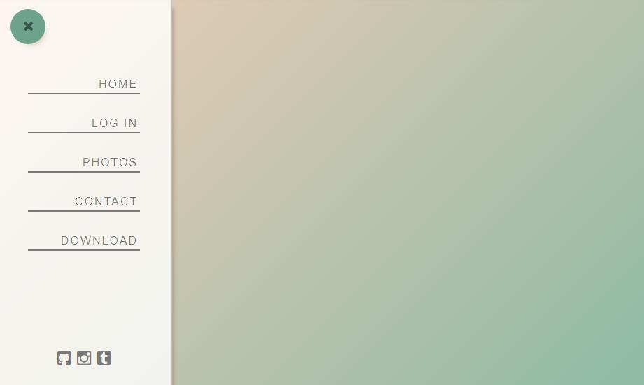 animated menu component
